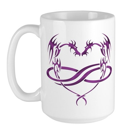 Purple Polydragon Large Mug