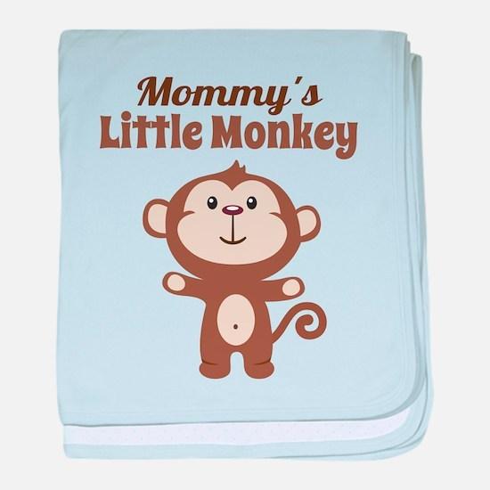 Mommys Little Monkey baby blanket