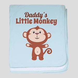 Daddys Little Monkey baby blanket