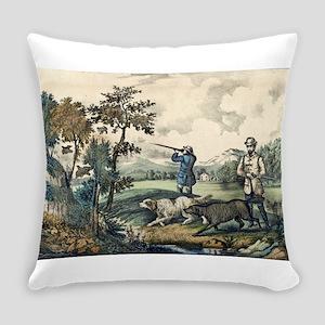 Quail shooting - 1907 Everyday Pillow