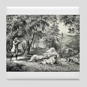 Partridge shooting - 1865 Tile Coaster