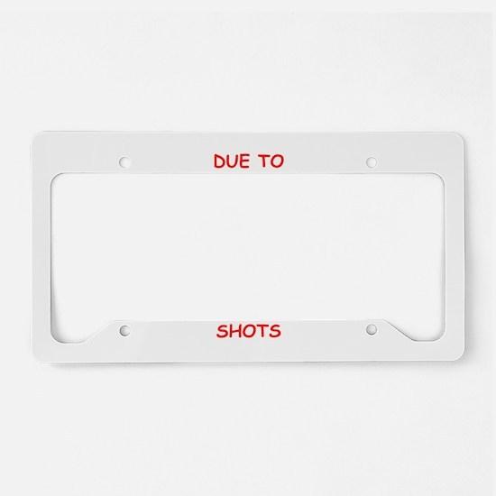 WARNING License Plate Holder