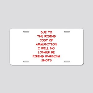 WARNING Aluminum License Plate