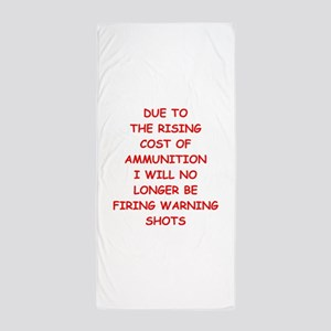 WARNING Beach Towel