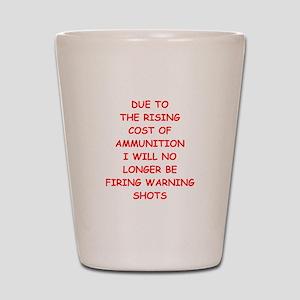 WARNING Shot Glass
