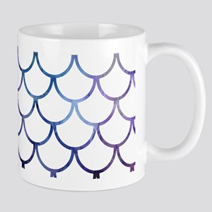 Abstract Purple and White Fish S 11 oz Ceramic Mug
