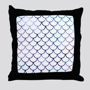 Abstract Purple and White Fish Scales Throw Pillow