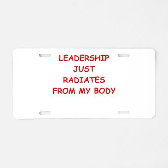leadership Aluminum License Plate
