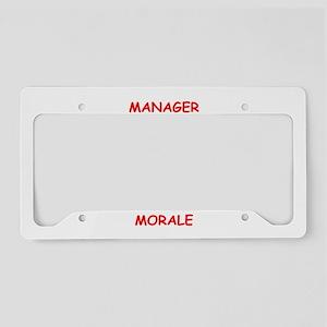 manager License Plate Holder