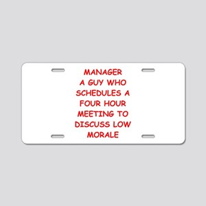 manager Aluminum License Plate