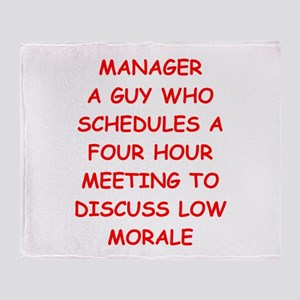 manager Throw Blanket