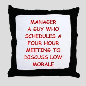 manager Throw Pillow
