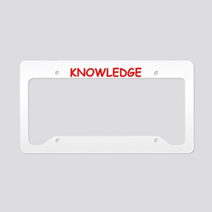 knowledge License Plate Holder