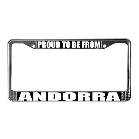 Andorra License Plate Frame