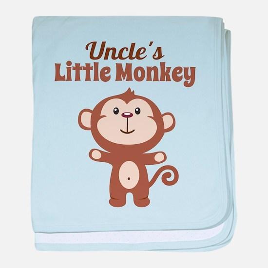 Uncles Little Monkey baby blanket