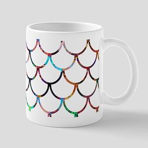 White Fish Scales & Rainbow Colo 11 oz Ceramic Mug