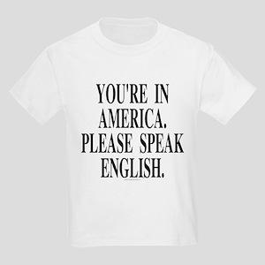 You're in America... (kids' t-shirt)