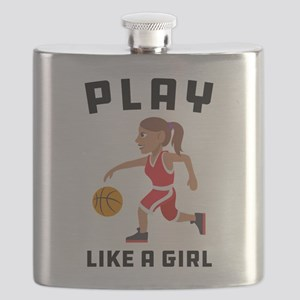 Emoji Play Like a Girl Flask