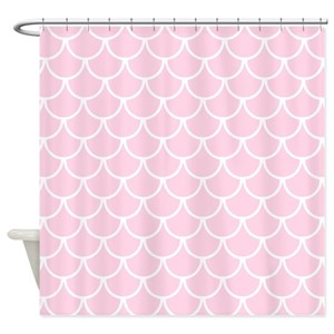 Pink Mermaid Shower Curtains