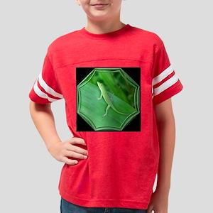 Green Lizard bl tile Youth Football Shirt
