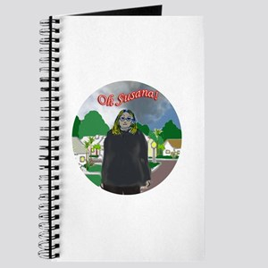 Oh Susana! black clouds (white background) Journal