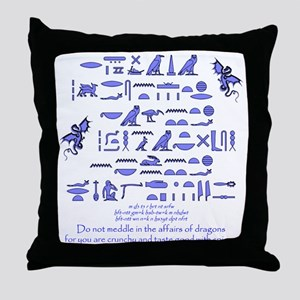 Affairs of Dragons (Egyptian) Throw Pillow