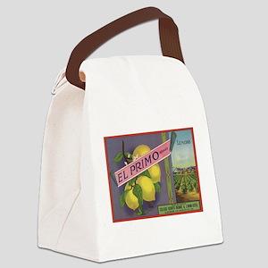 Vintage Fruit Vegetable Crate Label Canvas Lunch B
