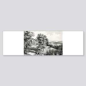 Life in the country - morning - 1862 Sticker (Bump