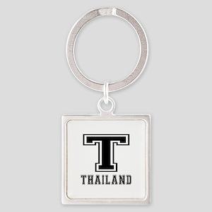 Thailand Designs Square Keychain