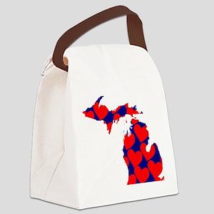 Mitten Love Canvas Lunch Bag