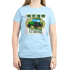 Triston Tractor Women's Pink T-Shirt