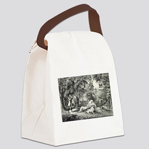 Partridge shooting - 1865 Canvas Lunch Bag