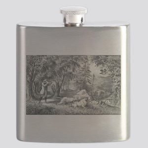 Partridge shooting - 1865 Flask