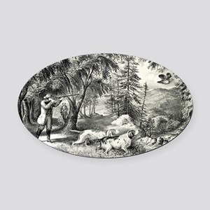 Partridge shooting - 1865 Oval Car Magnet