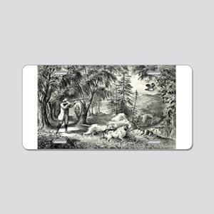 Partridge shooting - 1865 Aluminum License Plate