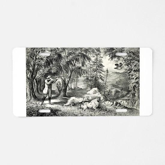 Partridge shooting - 1865 Aluminum License Plate