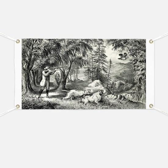 Partridge shooting - 1865 Banner