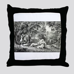 Partridge shooting - 1865 Throw Pillow