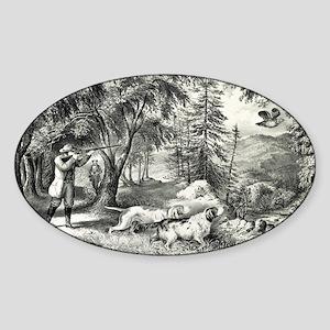 Partridge shooting - 1865 Sticker (Oval)