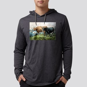 Prize fat cattle - 1856 Mens Hooded Shirt