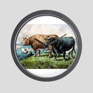 Prize fat cattle - 1856 Wall Clock
