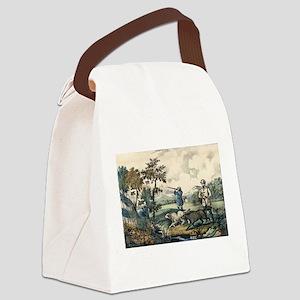 Quail shooting - 1907 Canvas Lunch Bag