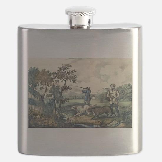 Quail shooting - 1907 Flask