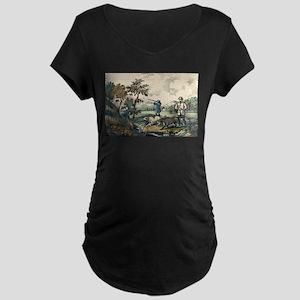 Quail shooting - 1907 Maternity Dark T-Shirt