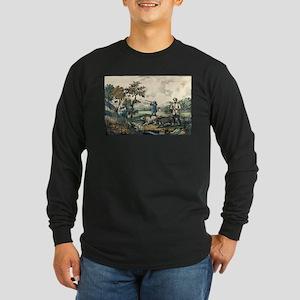 Quail shooting - 1907 Long Sleeve Dark T-Shirt