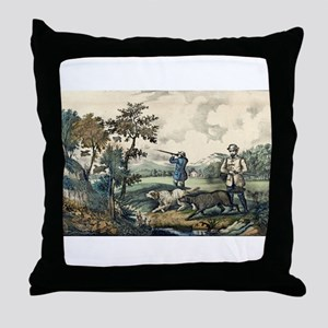 Quail shooting - 1907 Throw Pillow