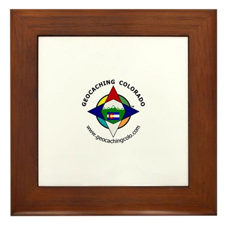Geocaching Colorado (GCCO) Framed Tile