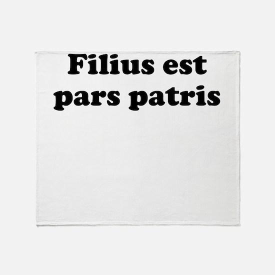 Filius est pars patris Throw Blanket