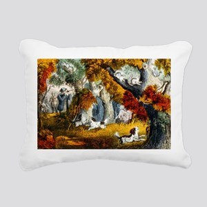 Squirrel shooting - 1907 Rectangular Canvas Pillow