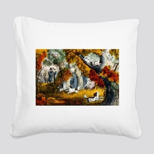 Squirrel shooting - 1907 Square Canvas Pillow